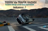 Tosya'da Trafik Kazasında Takla atan Kamyonet içindeki 2 kişi
