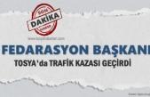 Fedarasyon Başkanı Tosya'da Trafik Kazası Geçirdi