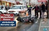 Tosya'da Motosiklet Kazası 1 Ağır Yaralı