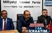 Tosya Belediye Başkanı Volkan Kavaklıgil İlk İcraatını Açıkladı