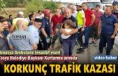 Tosya'da Korkunç Trafik Kazası Başkan Olay Yerinde