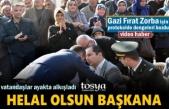 Tosya Belediye Başkanı Volkan Kavklıgil  Gazi Fırat Zorba için Bakın Ne Yaptı