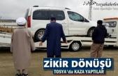 Zikirden Dönen Aile Tosya'da Trafik Kazası Geçirdi