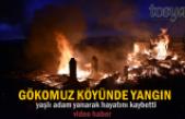 Tosya Gökomuz Köyünde Üç Ev Yandı