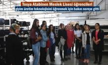 Tosya'da Öğrenciler Giyim Üretim Teknolojisini öğrenmek için gezi düzenledi