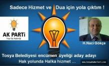 Tosya Belediye Meclis Üyesi Aday Adayı Naci Gökçe