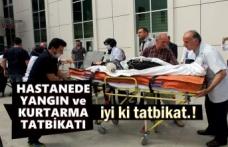 Tosya Devlet Hastanesinde Kurtarma ve Yangın Tatbikatı