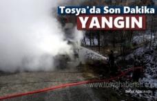 Tosya'da Araç Yangını Paniğe neden oldu