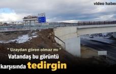 Tosya'da Vatandaş Gördüğü Manzara Karşısında Tedirgin