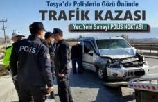 Tosya Polis Kontrol Noktasında Trafik Kazası