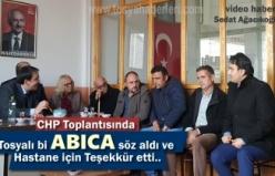 Tosya CHP İlçe Başkanlığı Toplantısı Hastane Sorunu