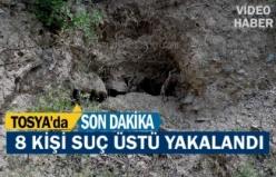 Tosya'da Define Avcısı 8 kişi suçüstü yakalandı