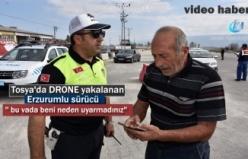 Tosya D-100 Karayolunda Emniyet Kemeri takmayan sürücü Drone Yakalandı