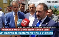 AK Parti Milletvekili Adayı Murat Demir seçim startını Tosya'da Kurban keserek verdi