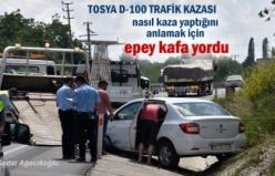 Tosya D-100 Karayolu Topsakal mevkii Trafik Kazası