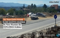 Tosya-Çankırı Kavşağında ara yol kazaya davetiye çıkarıyor