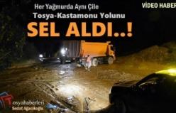 Tosya-Kastamonu Yolunu Sel Aldı