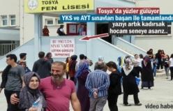 Tosya'da ilk defa yapılan YKS sınavı sona erdi