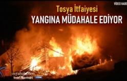 Tosya İtfaiyesi İskilip Köy Yangın Söndürme Çalışmasına Yardım Ediyor