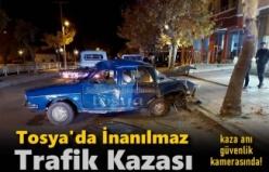 Tosya'da dün gece yarısı inanılmaz trafik kazası