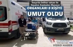 Tosya'da İntihar Vakası İle Hayatını Kaybeden Manavın Organları Bağışlandı