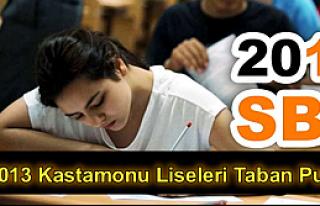 2013 Kastamonu Liseleri Taban Puanları