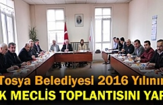 TOSYA BELEDİYESİ YILIN İLK MECLİS TOPLANTISINI...