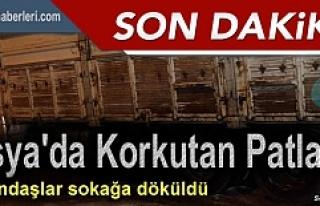 TOSYA'DA GECEYARISI MEYDANA GELEN PATLAMA PANİK...