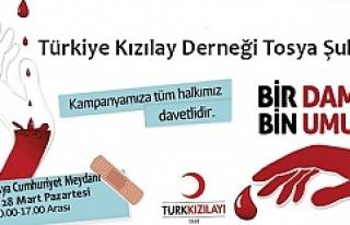 Kızılay 28 Mart'ta Tosya'da Kan Bağışı...