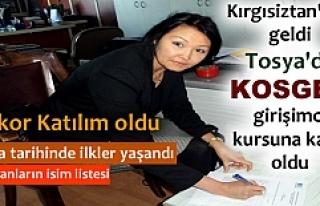 TOSYA'DA KOSGEB KURSUNA REKOR TALEP VE KIRGISİZTANLI...