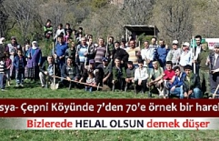 Çepni Köyü ''Senin de Köyünde Bir Dikili...