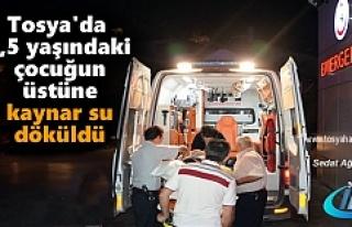 TOSYA'DA ÜZERİNE KAYNAR SU DÖKÜLEN 17 AYLIK...