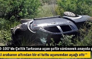 TOSYA'DA TRAFİK KAZASINDA ARAÇ ÇELTİK TARLASINA...