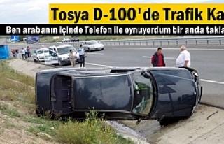 TOSYA TRAFİK KAZASI 1 YARALI
