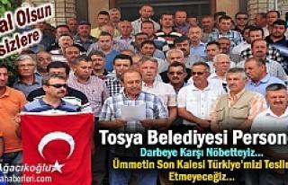 Tosya Belediyesi Personeli ve Sendika Darbeye Karşı...