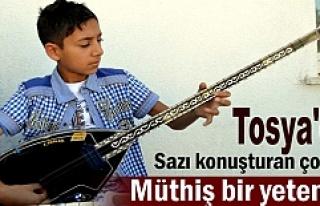 Tosya'da Küçük Yaşta Saz Ustası Hızır...