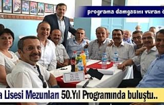 TOSYA LİSESİ 50.YILINDA MEZUNLARI İLE BULUŞTU