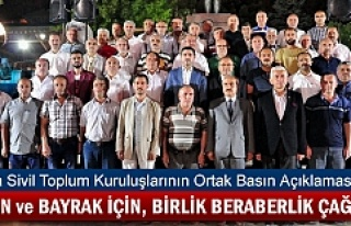 Tosya STK'lar Darbeye Karşı Basın Bildirii...