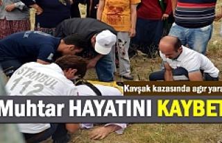 Tosya'da Trafik Kazasından ağır yaralanan muhtar...