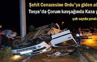 Şehit Cenazesine Giden Aile Tosya'da Trafik Kazası...