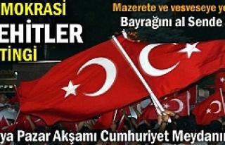 Tosya'da Pazar günü Demokrasi ve Şehitler...