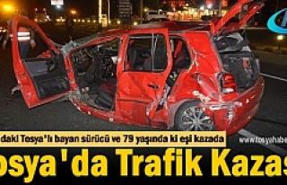 Tosya'lı 69 yaşındaki bayan sürücü Trafik...