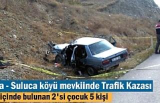 Tosya'da meydana gelen Trafik kazasında 5 kişi...