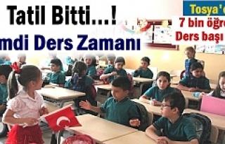 Tosya'da 2016-2017 Eğitim Öğretim Yılı Başladı