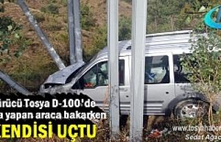 Tosya'da Kazaya bakan Şoför kaza yaptı ölümden...