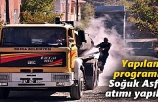 Tosya Belediyesi Soğuk Asfalt Çalışmalarına hız...