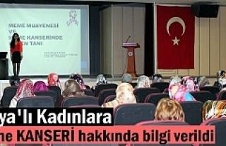 Tosya'lı Kadınlara Meme Kanseri hakkında bilgi...