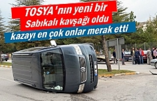 TOSYA'DA TRAFİK KAZASI 1 KİŞİ YARALANDI