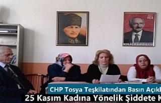 CHP Tosya Teşkilatından Basın Açıklaması