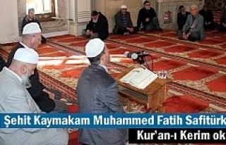 Kaymakam Muhammed Fatih Safitürk için Tosya'da...